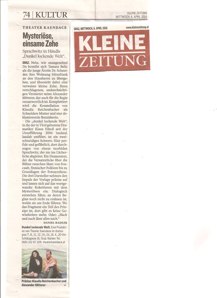 Dunkel lockende Welt Kritik Kleine Zeitung